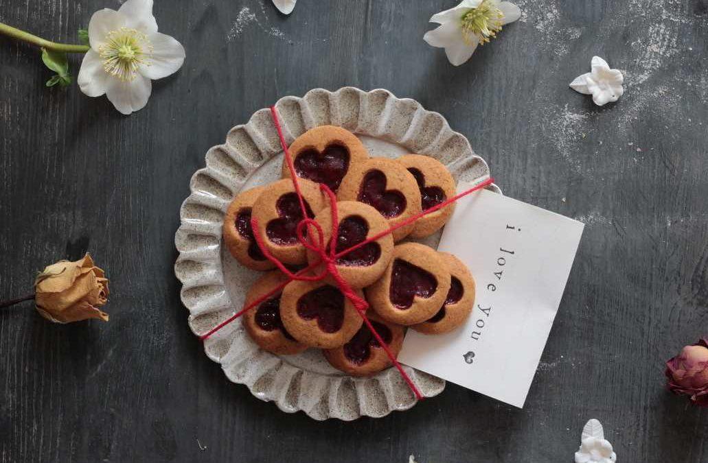 Biscotti integrali di San Valentino