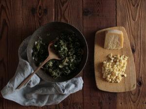 ripieno mini torte salate caciotta ed erbette