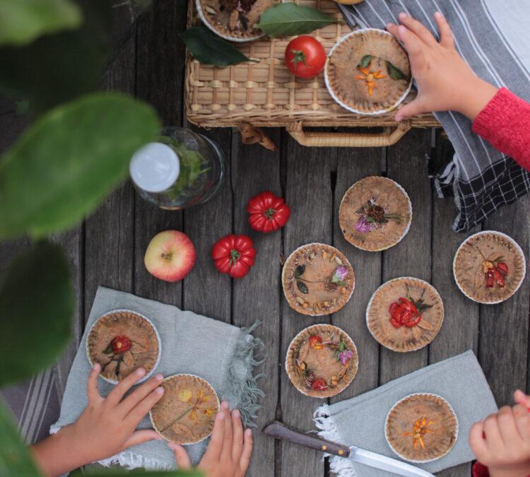 Mini Torte salate di Caciotta ed Erbette